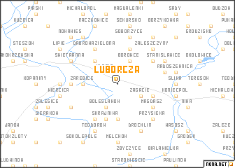map of Luborcza