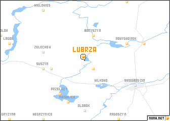map of Lubrza