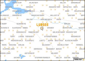 map of Lübsee