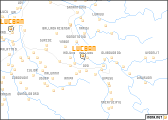 map of Lucban