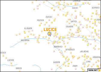 map of Lučice