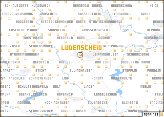 map of Lüdenscheid