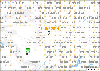 map of Lüderich