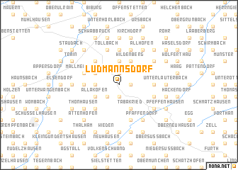 map of Ludmannsdorf