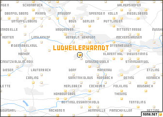 map of Ludweiler-Warndt