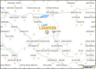 map of Ludwików