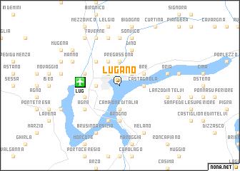 Lugano Switzerland map nonanet