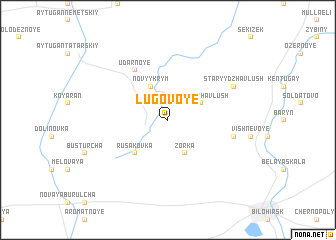 map of Lugovoye