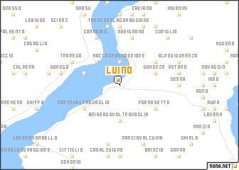 map of Luino