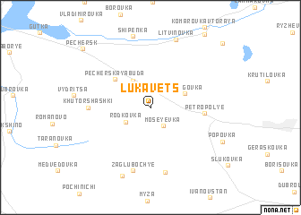 map of Lukavets