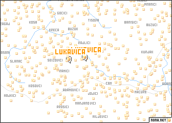 map of Lukavica