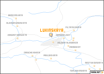 map of Lukinskaya
