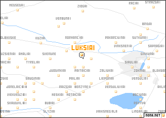 map of Lukšiai