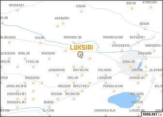map of Lukšiai