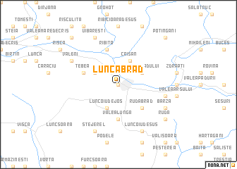map of Lunca Brad