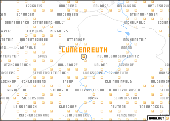 map of Lunkenreuth