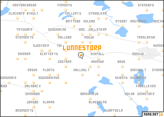 map of Lunnestorp