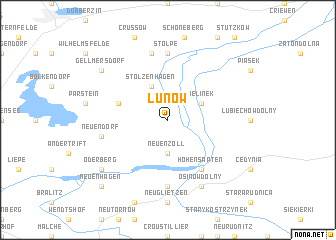 map of Lunow