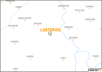 map of Luotaping