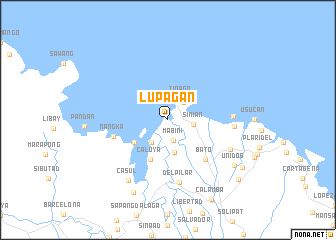 map of Lupagan