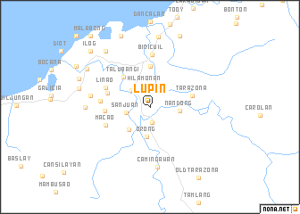 map of Lupin