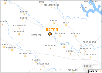 map of Lupton