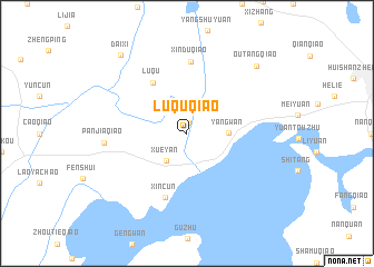 map of Luquqiao