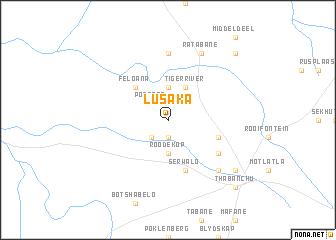 Lusaka South Africa map nonanet