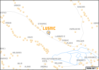 map of Lusnić