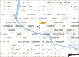map of Lüssum