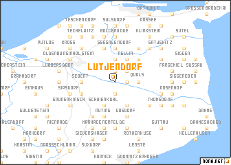 map of Lütjendorf