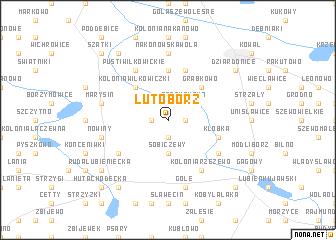 map of Lutobórz