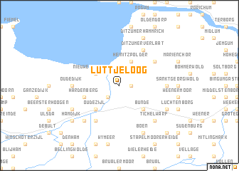 map of Lüttjeloog