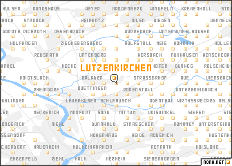 map of Lützenkirchen