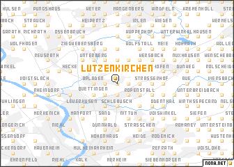 map of Lützenkirchen