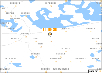 map of Luumäki