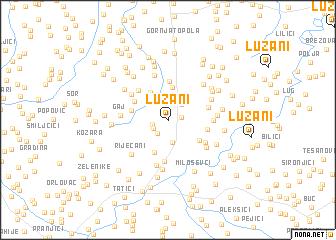 map of Lužani