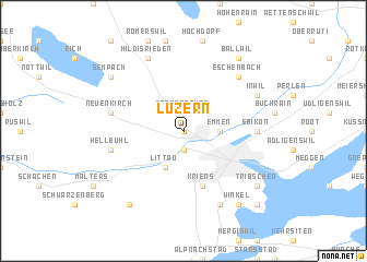 map of Luzern