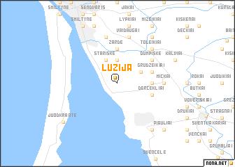 map of Lužija