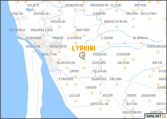 map of Lypkiai