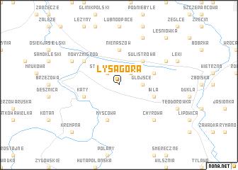 map of Łysa Góra