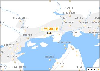 map of Lysaker