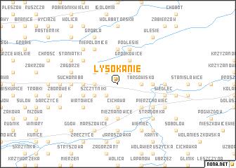 map of Łysokanie