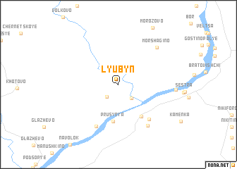 map of Lyubyn\