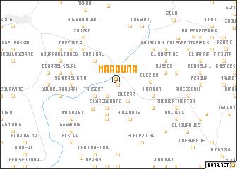 map of Maaouna