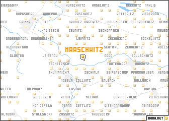 map of Maaschwitz