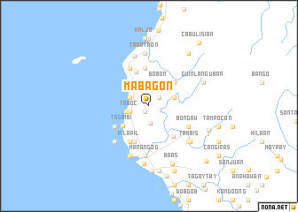 map of Mabagon