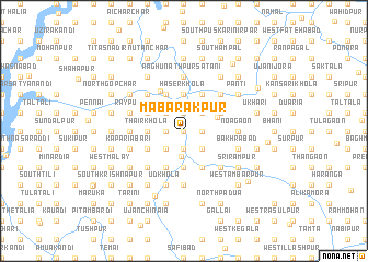 map of Mabārakpur
