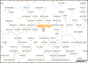 map of Mabendu