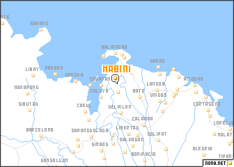map of Mabini